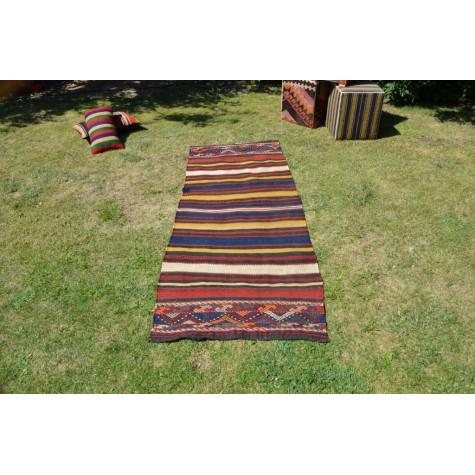 """Turkish Handmade Anatolian Vintage Rug For Home Decor 6'6,7"""" X 2'7,5"""""""