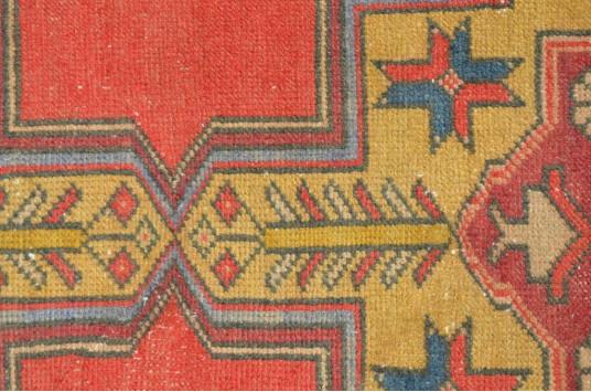 "Blue Vintage Turkish Anatolian Rug For Home Decor 9'2,6"" X 4'1,2"""