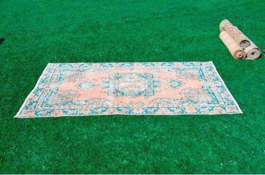 "Blue Oushak Turkish Rug For Home Decor 6'3,2"" X 3'4,9"""