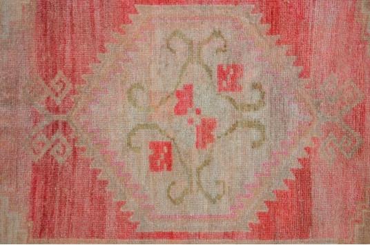 "Handmade Turkish Vintage Small Area Rug Doormat For Home Decor 2'10,3"" X 1'8,1"""