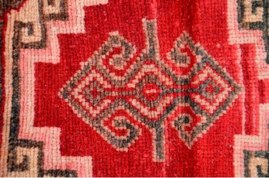 "Unique Turkish Vintage Small Area Rug Doormat For Home Decor 3'1,8"" X 1'6,9"""
