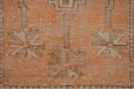 "Turkish Handmade Vintage Small Area Rug Doormat For Home Decor 2'9,9"" X 1'7,3"""