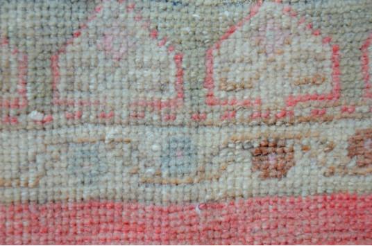 "Turkish Handmade Vintage Small Area Rug Doormat For Home Decor 3'8,1"" X 1'8,9"""