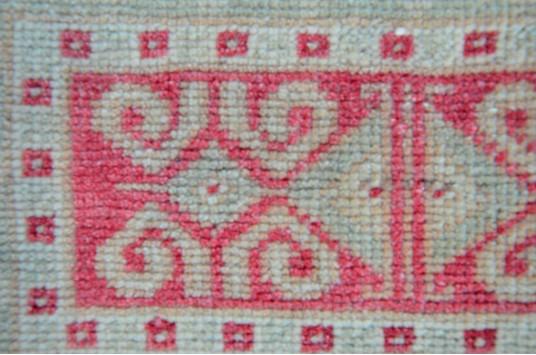 "Handmade Turkish Vintage Small Area Rug Doormat For Home Decor 3'5,7"" X 1'8,9"""