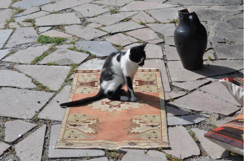 "Handmade Turkish Vintage Small Area Rug Doormat For Home Decor 2'11,4"" X 1'8,1"""