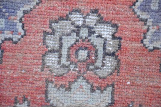 "Turkish Handmade Vintage Small Area Rug Doormat For Home Decor 2'5,9"" X 1'7,3"""