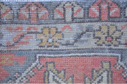 "Handmade Turkish Vintage Small Area Rug Doormat For Home Decor 2'7,9"" X 1'6,9"""