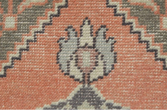 """Hand Knotted Turkish Vintage Small Area Rug Doormat For Home Decor 2'10,3"""" X 1'5,3"""""""