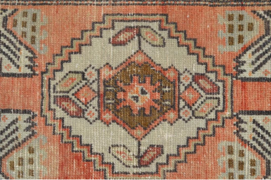 """Natural Turkish Vintage Small Area Rug Doormat For Home Decor 2'10,3"""" X 1'4,5"""""""