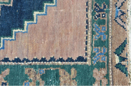 "Unique Turkish Vintage Small Area Rug Doormat For Home Decor 2'7,9"" X 1'7,3"""
