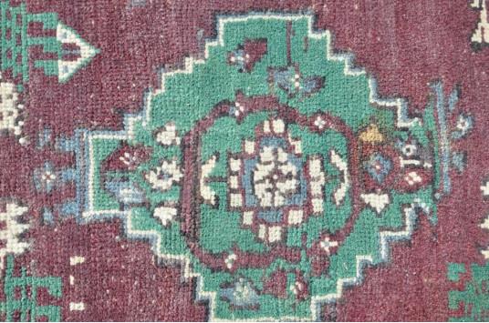 "Unique Turkish Vintage Small Area Rug Doormat For Home Decor 2'9,9"" X 1'11,2"""