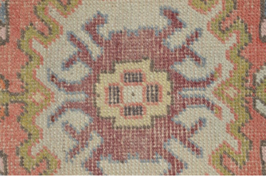 """Natural Turkish Vintage Small Area Rug Doormat For Home Decor 2'11"""" X 1'6,9"""""""
