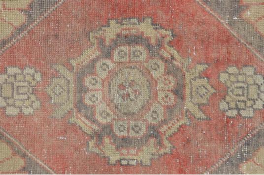 "Unique Turkish Vintage Small Area Rug Doormat For Home Decor 2'11,8"" X 1'6,1"""
