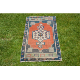 """Natural Turkish Vintage Small Area Rug Doormat For Home Decor 3'4,9"""" X 1'6,9"""""""