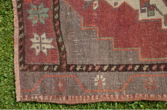 """Natural Turkish Vintage Small Area Rug Doormat For Home Decor 3'11,2"""" X 1'8,9"""""""