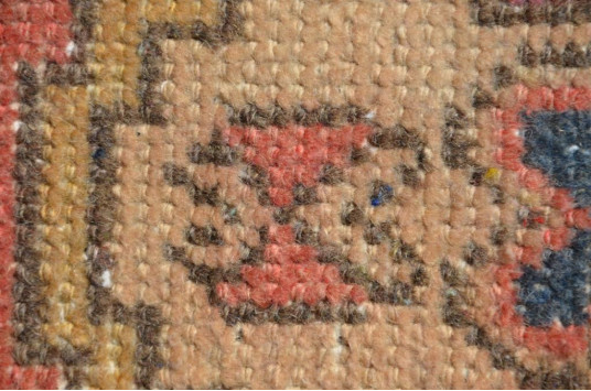 "Vintage Handmade Turkish Small Area Rug Doormat For Home Decor 2'10,6"" X 1'5,7"""