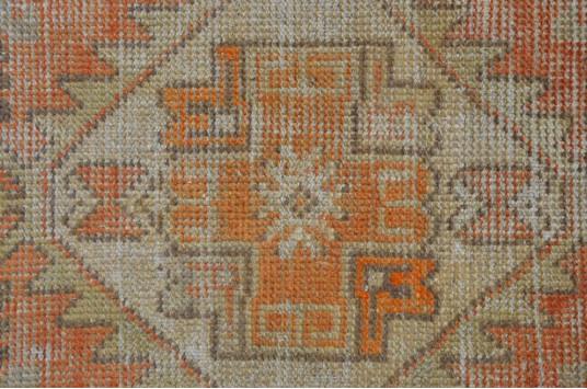 "Vintage Handmade Turkish Small Area Rug Doormat For Home Decor 2'11"" X 1'6,5"""