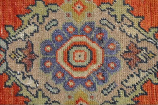 "Unique Turkish Vintage Small Area Rug Doormat For Home Decor 2'9,9"" X 1'4,9"""