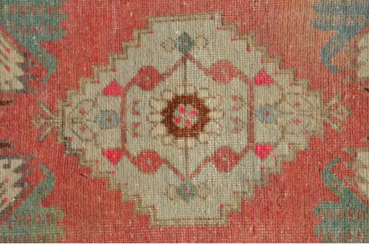 "Vintage Handmade Turkish Small Area Rug Doormat For Home Decor 3'6,1"" X 1'6,5"""