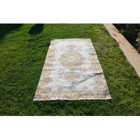 """Handknotted Oushak Turkish Rug For Home Decor 6'9,9"""" X 3'8,9"""""""