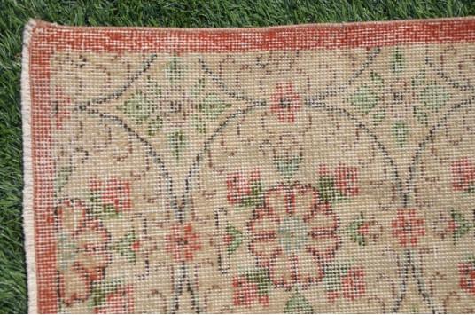 "Handmade Turkish Large Vintage Rug For Home Decor 6'7,5"" X 3'5,3"""