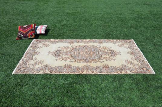 "Gray Oushak Turkish Rug For Home Decor 6'8,3"" X 3'9,7"""