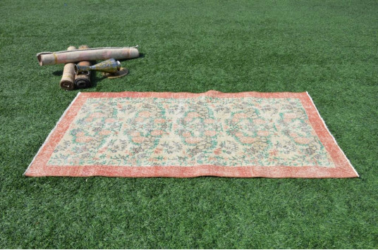 "Natural Oushak Turkish Rug For Home Decor 6'7,9"" X 3'9,3"""