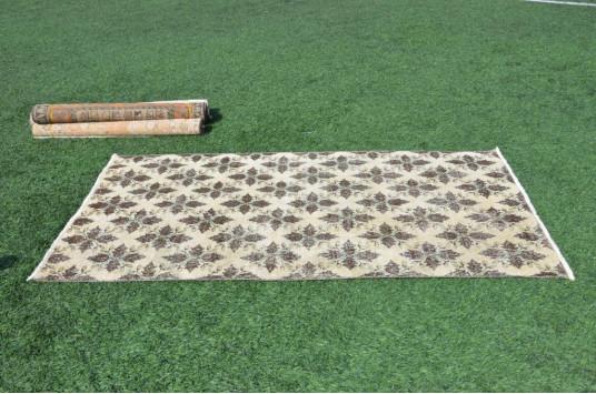 "Handmade Oushak Turkish Rug For Home Decor 6'8,3"" X 3'7,7"""