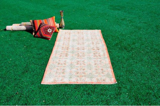 "Natural Oushak Turkish Rug For Home Decor 6'6"" X 3'4,6"""