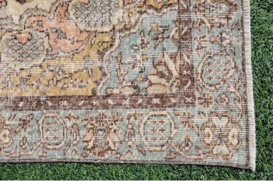 """Natural Turkish Large Vintage Rug For Home Decor 8'7,5"""" X 5'0,6"""""""