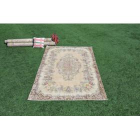 "Handmade Turkish Large Vintage Rug For Home Decor 8'8,7"" X 5'3,8"""