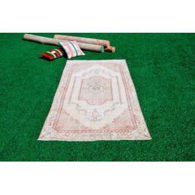 "Handmade Turkish Retro Vintage Rug For Home Decor 6'8,7"" X 3'6,5"""