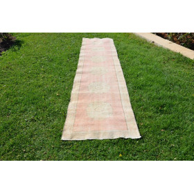 """Hand Knotted Vintage Turkish Runner Rug For Home Decor 1'8"""" X 2'5,5"""""""