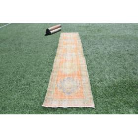 """Natural Vintage Turkish Runner Rug For Home Decor 1'32,8"""" X 2'5,5"""""""