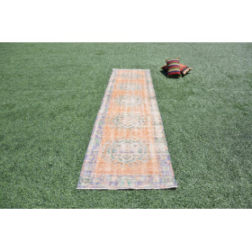 "Vintage Handmade Turkish Runner Rug For Home Decor 1'9,1"" X 2'9,9"""