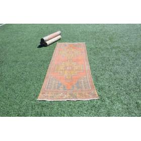 """Natural Vintage Turkish Runner Rug For Home Decor 8'1,6"""" X 2'11,4"""""""