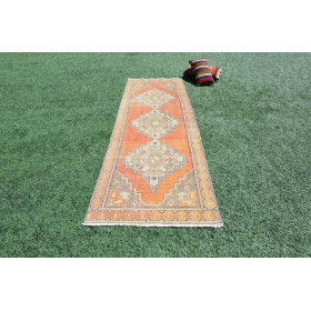 "Turkish Vintage Runner Rug For Home Decor 9'3"" X 3'0,2"""