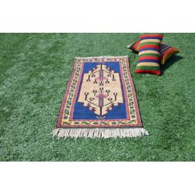 """Vintage Handmade Turkish Small Area Rug For Home Decor 3'11,2"""" X 2'5,5"""""""