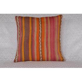 "16 X 16 Handmade Decorative Vintage Pillow 1'3,7"" X 1'3,7"""