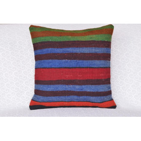"16 X 16 Handmade Turkish Vintage Pillow 1'3,7"" X 1'3,7"""